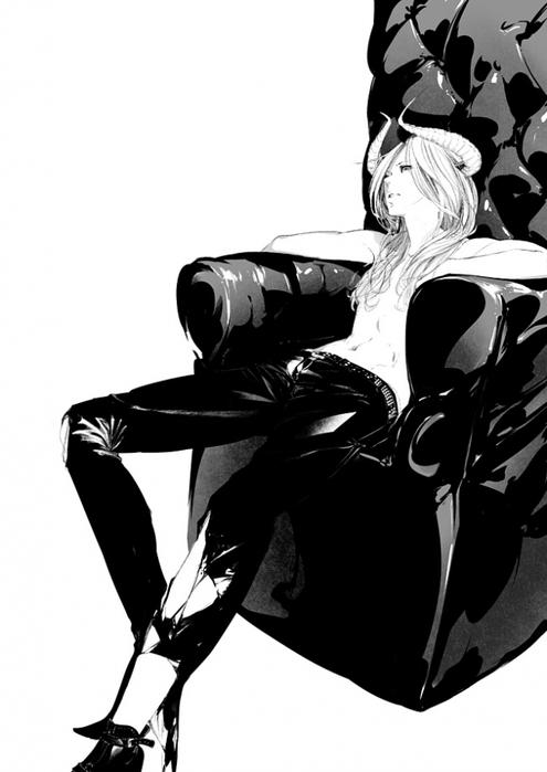картинки аниме с длинными волосами: