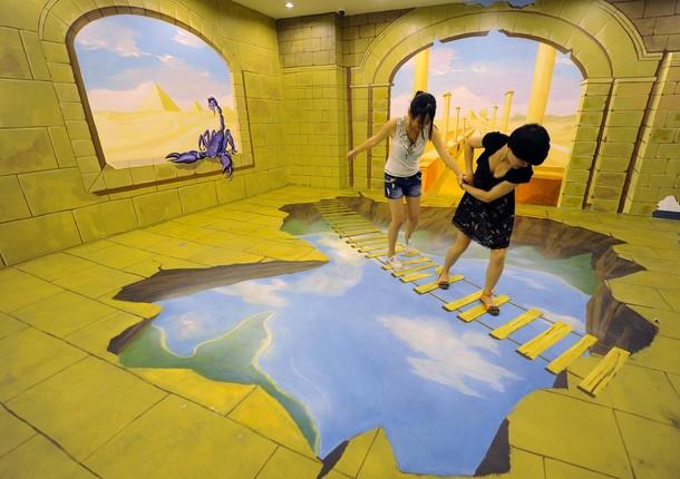 Трехмерная художественная выставка в Хэфэй, 20 июля 2012 года
