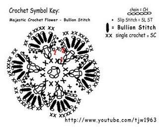 Majestic Crochet Flower Motif - Bullion Stitch - spiegazione (320x256, 25Kb)