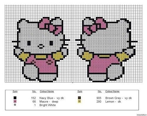 Часть 1 - Вышивка Hello Kitty.