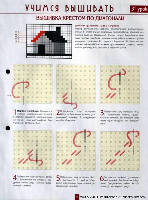 Вышивка крестом показать как вышивать крестом6