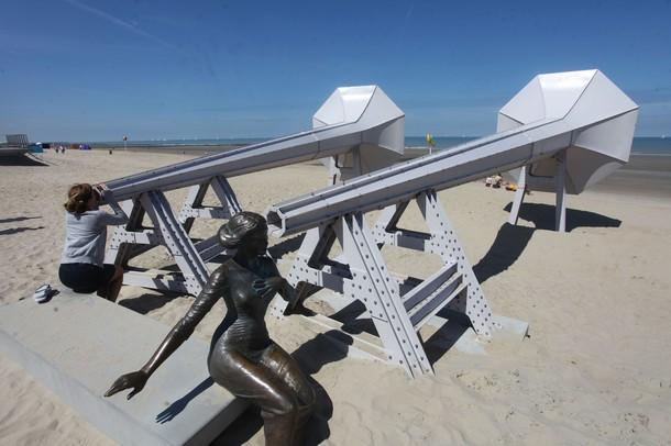 Художественная выставка на бельгийском побережье, Вестэнд, 22 июля 2012 года