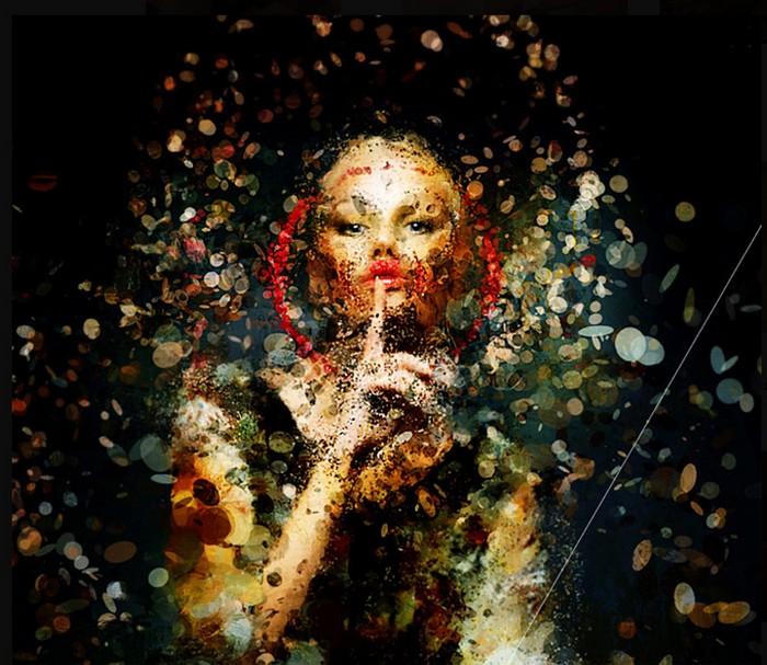 Необычные портреты знаменитостей от дизайнера Nicola Felaco 14 (700x607, 125Kb)