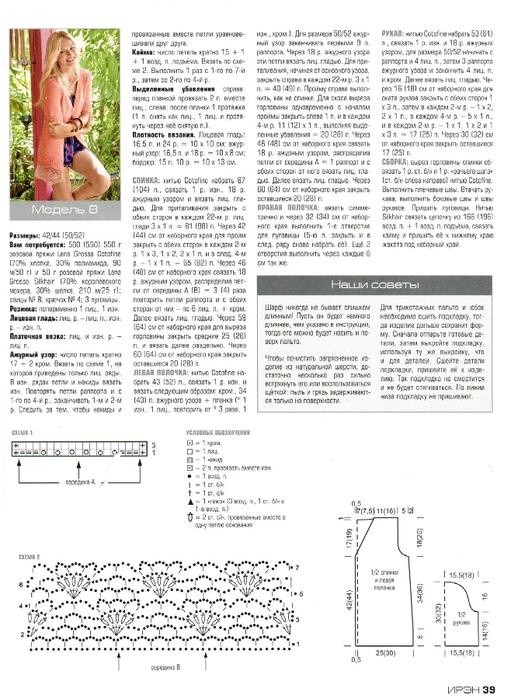 """Жмите - картинки увеличатся!  Ажурный жакет из Lana Grossa.  Описание из журнала  """"Ирэн """" ."""