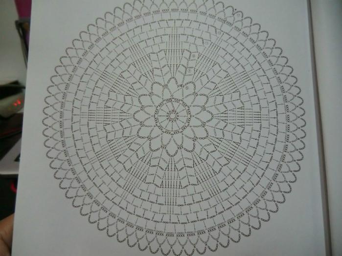 крючок круг вязание схемы