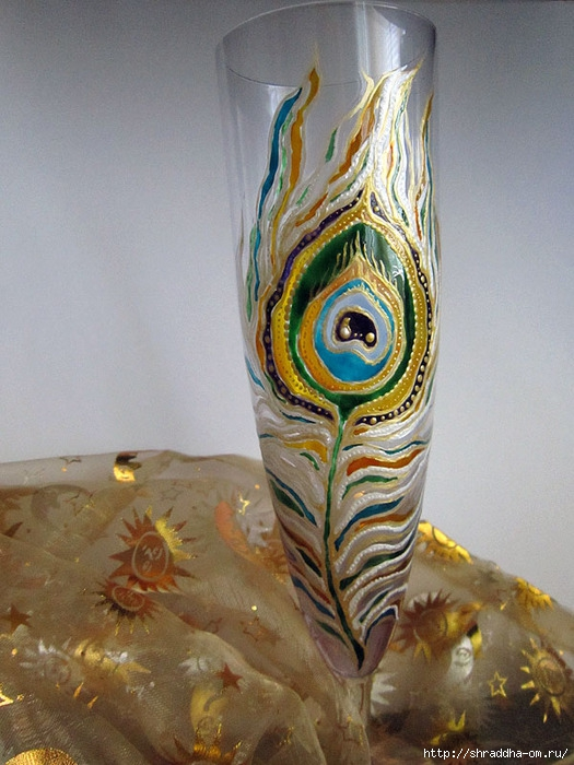 бокалы Павлинье перо, автор Shraddha, 1 (525x700, 243Kb)