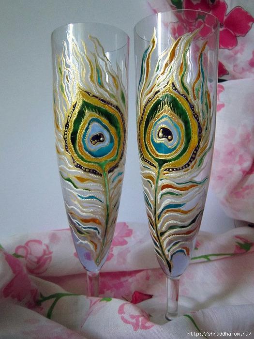 бокалы Павлинье перо, автор Shraddha, 10 (525x700, 271Kb)