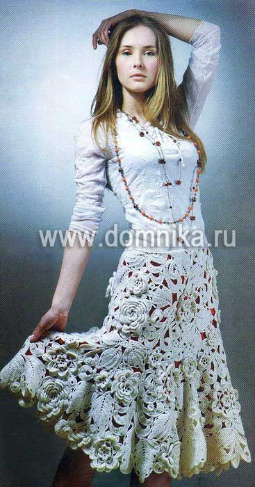 Цветочная юбка.