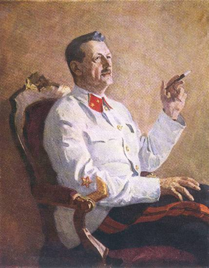 Ефанов В.П. «Портрет генерала А. А. Игнатьева», 1942, портрет, холст, масло (429x550, 43Kb)