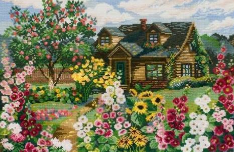 Вышивка крестиком сад схемы