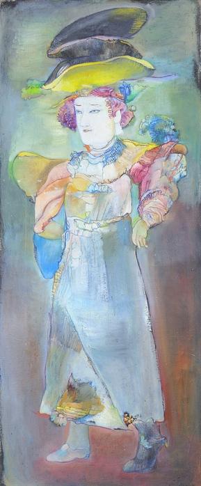 Зеркальная-цветочница, работы Гаянэ Хачатурян (289x700, 114Kb)