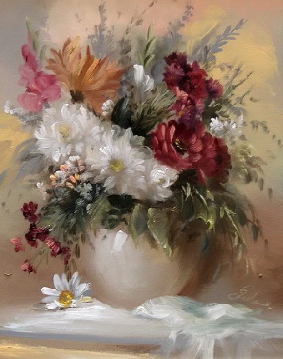 Vase Flower Painting, by Szechenyi Szidonia (552x700, 284Kb)