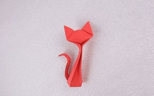 Оригами кошка (1) (600x375, 39Kb)