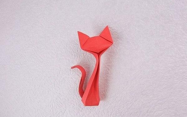 Оригами кошка.