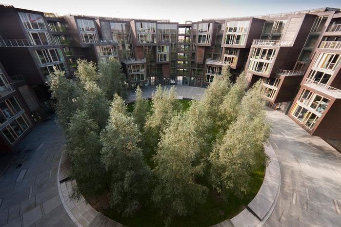 студенческое общежитие в Копенгагене фото 4 (700x466, 144Kb)
