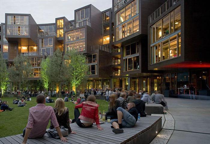 студенческое общежитие в Копенгагене фото 12 (700x481, 154Kb)