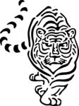 Превью Prowling_Tiger_Stencil_by_halfthelaw (524x700, 50Kb)