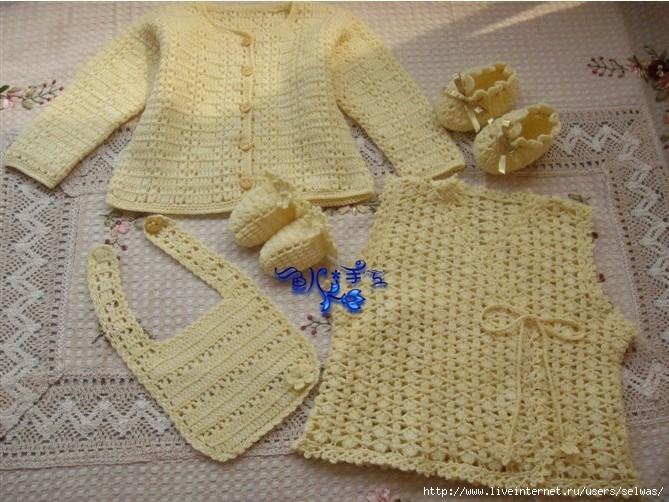 Комплект вязаный крючком для малышей-распашонка,кофта,пинетки,рукавички/4683827_20120727_212427 (669x502, 236Kb)