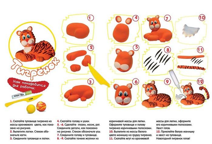 тигр из пластилини (700x477, 115Kb)