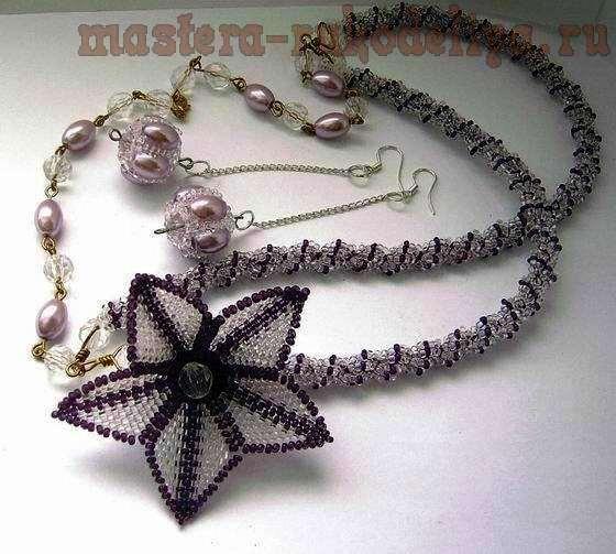 Мастер-класс по бисероплетению: Лилия – мозаичное плетение