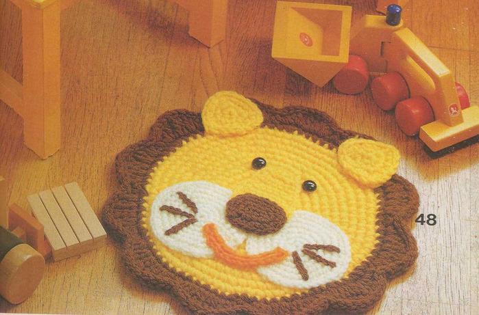 Детский коврик крючком мастер класс
