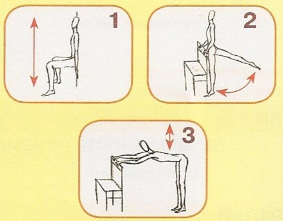 Упражнения в положении стоя (584x456, 116Kb)
