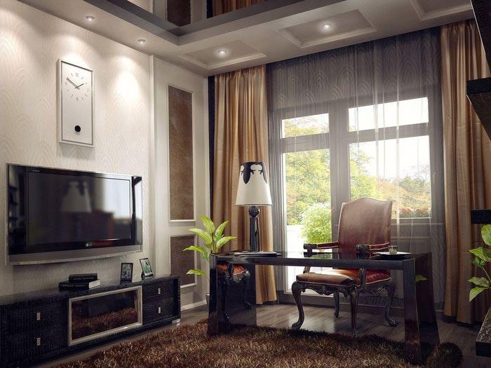 Личное пространство в доме или квартире — рабочий кабинет.