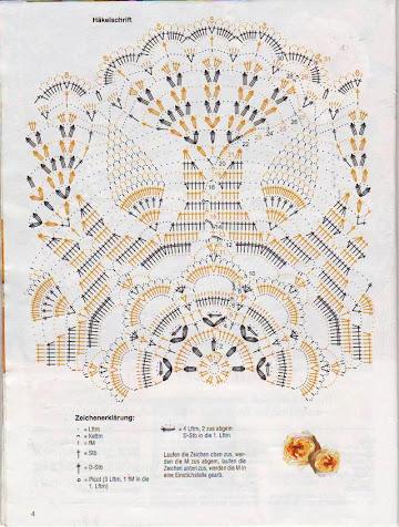 Схемы для вязания салфеток и кружева.