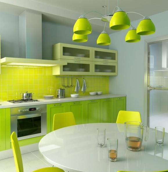 фото салатовых аксессуаров для кухни