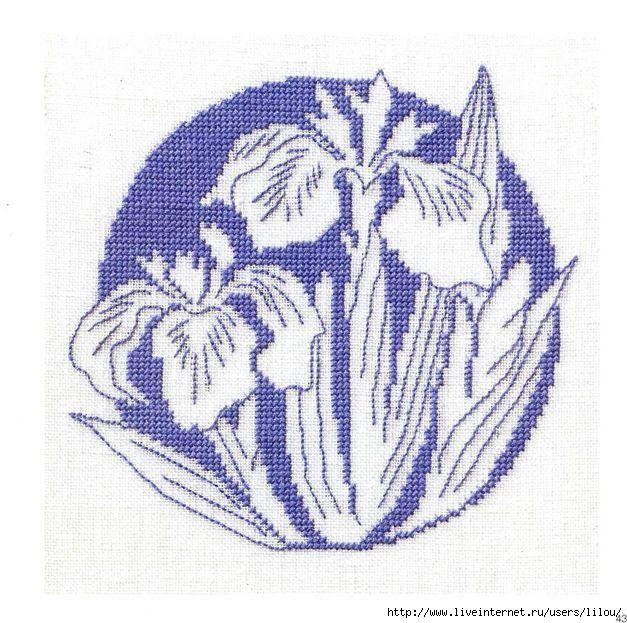 Монохромные картинки цветов 8