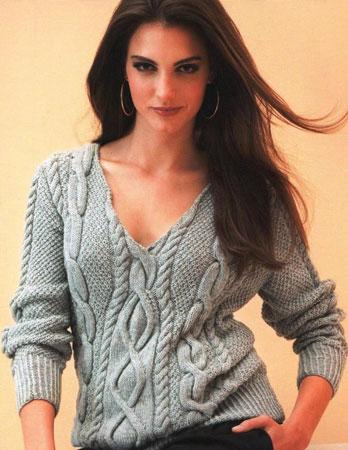 seryj-pulover-s-aranami_0 (348x450, 45Kb)