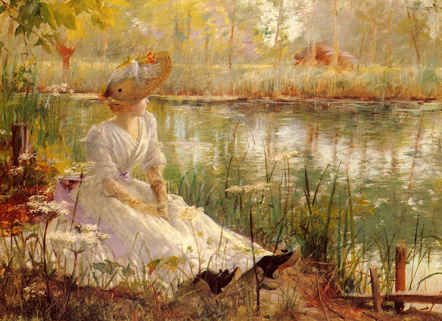 A Beauty by a River, by Charles James (640x465, 145Kb)