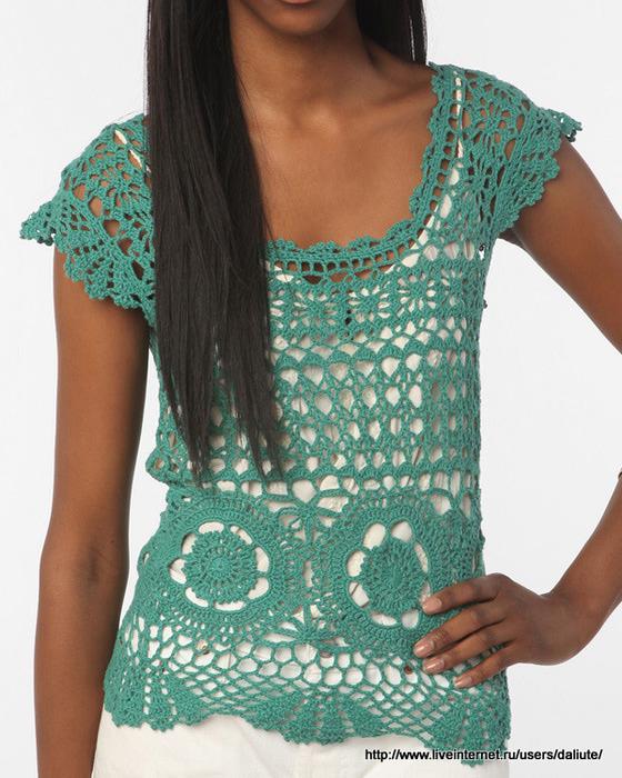 Crochet Patterns For Ladies Tops : Crochetpedia: Crochet Womens Wear Feminine Top