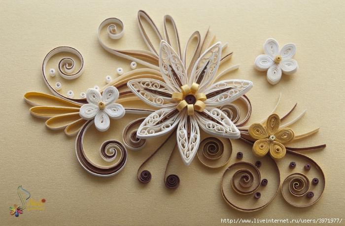 Квиллинг картинки для начинающих цветы 4
