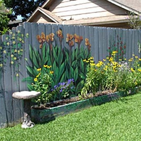 Расписать забор на даче фото