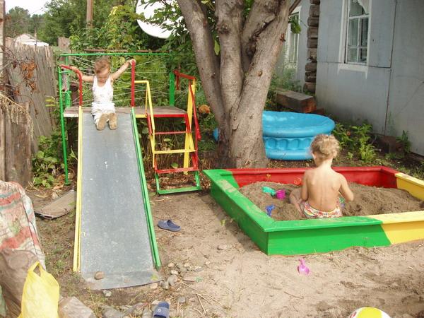 Детская площадка своими руками фото работ