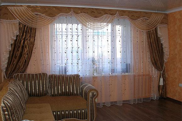 Бандо шторы в зал сшить