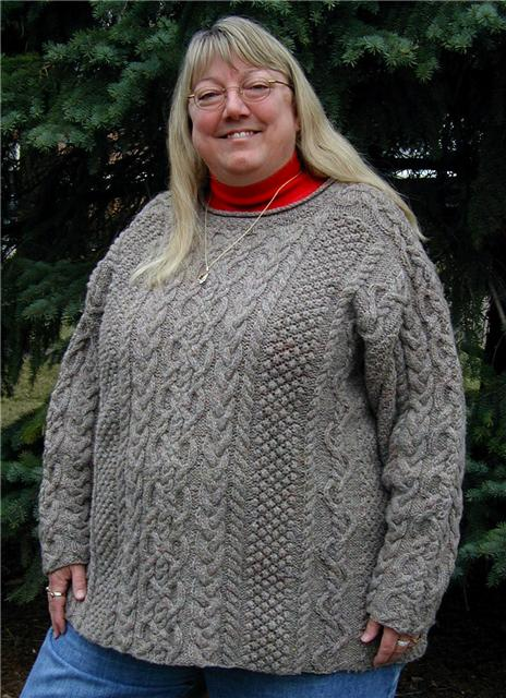 вязание для полных спицами.