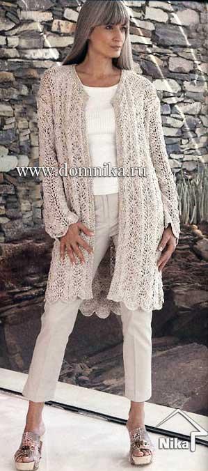 Метки: Летнее вязаное пальто