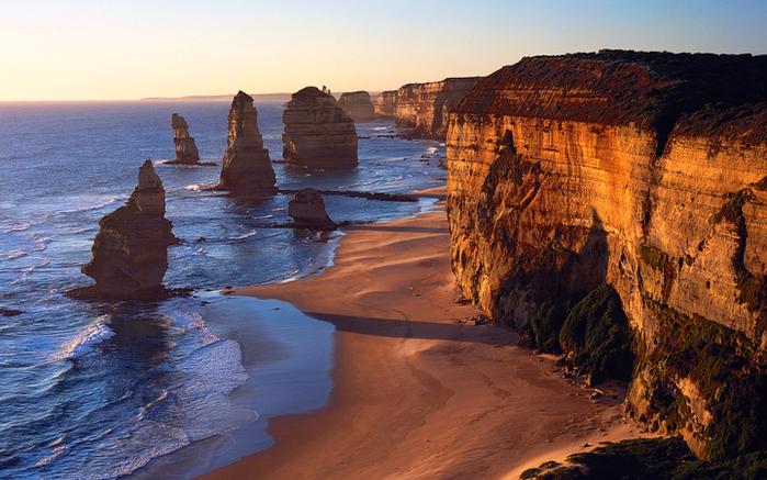 Лучшие достопримечательности Австралии - Великая океанская дорога и 12 апостолов Виктории 3 (700x437, 459Kb)