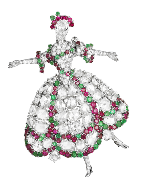 van-cleef-jewelry.jpgThis Ballerina brooch was made in 1942 – this type of jewelry – mood lifting was very popular during the war period. Made with platinum, diamonds, rubies and emeralds. (500x666, 173Kb)