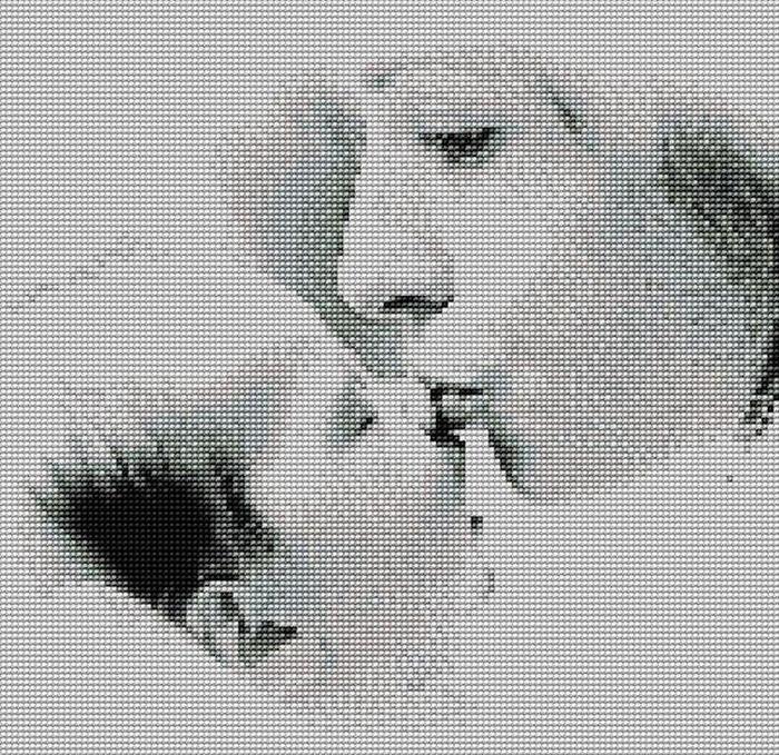 Мамин поцелуй (вышивание)