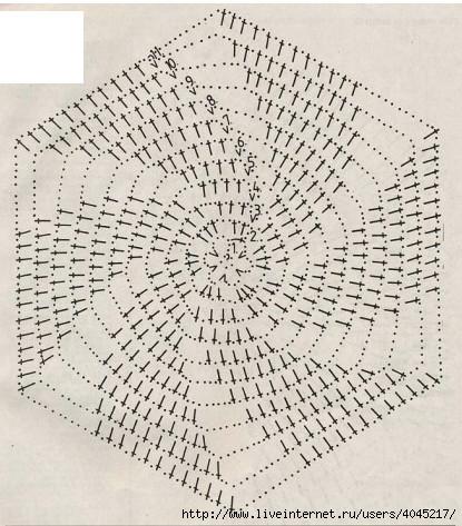 Схема сборки шестиугольников