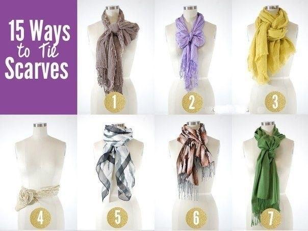 15 способов завязать шарф .