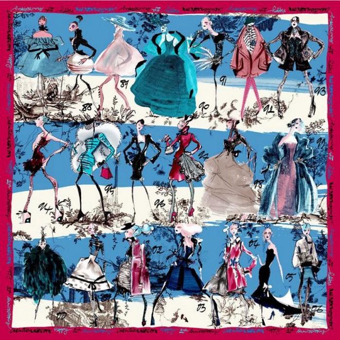 Шейный платок, как модный аксессуар 16 (699x700, 197Kb)