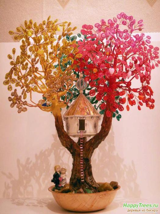 Как сделать бисерное дерево