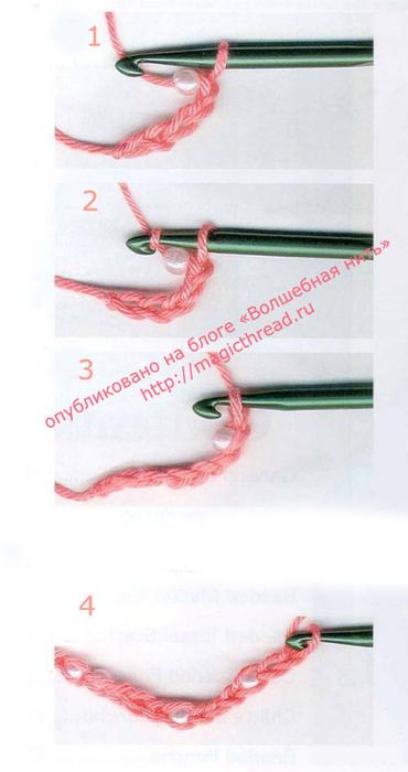 Вязание с бисером крючком и спицами
