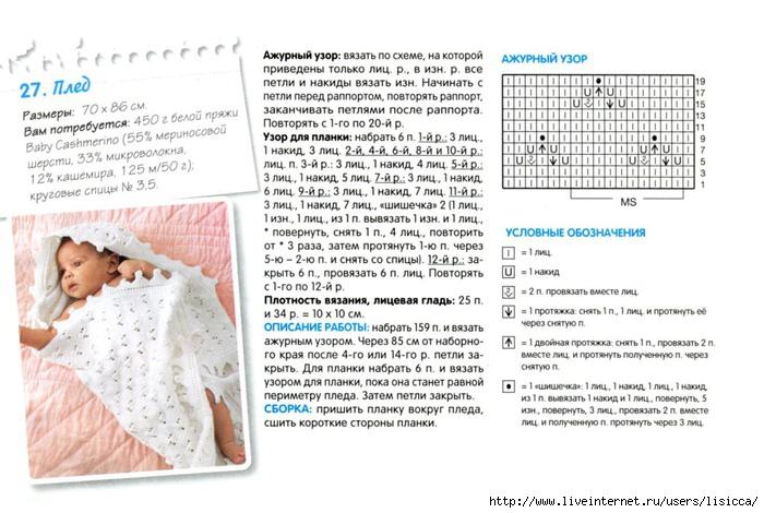 Простейшие схемы вязания для новорожденных