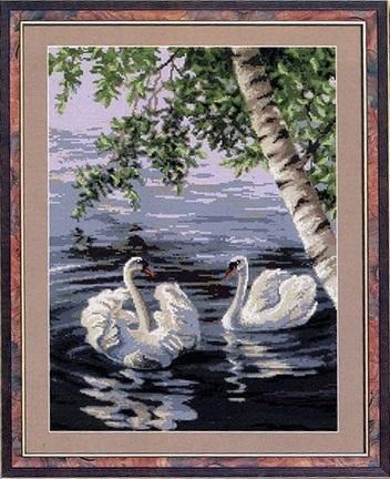Лебеди. схемы для вышивки