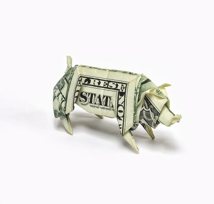 Креативные оригами из денег 19 (700x668, 40Kb)